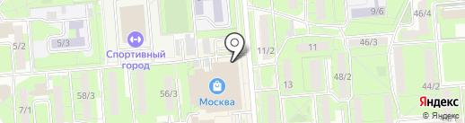 Всероссийская организация интеллектуальной собственности на карте Липецка