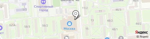Пан Пончик на карте Липецка