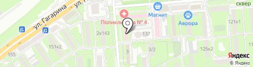 Городская поликлиника №4 на карте Липецка