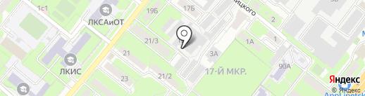 Липецкая областная коммунальная компания, ОГУП на карте Липецка