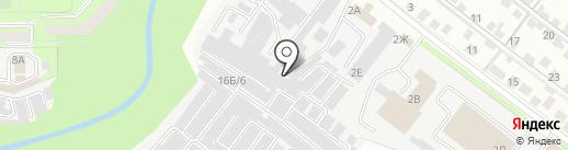 Бригантина на карте Липецка