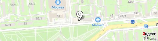 Следственный отдел по Левобережному округу г. Липецка на карте Липецка