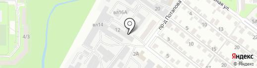 Технострой-юг на карте Липецка