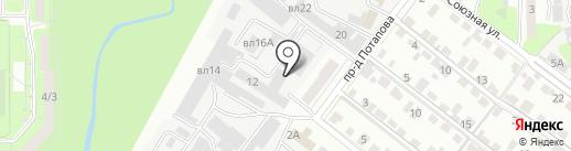 Сударь на карте Липецка