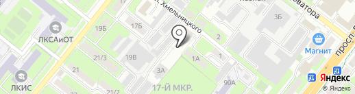 ЛИСК на карте Липецка
