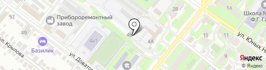 Автошкола на карте Липецка