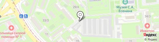 Автолюбитель на карте Липецка