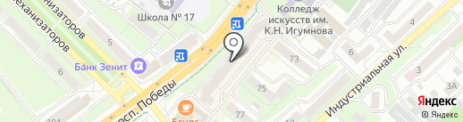Вега на карте Липецка