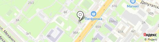 Фабрика радости на карте Липецка