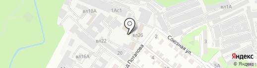 Монтаж К на карте Липецка