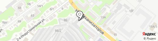 Центр тонирования на карте Липецка