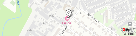 Синель на карте Липецка