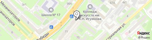 Vиктори на карте Липецка
