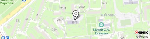 Детский сад №96 на карте Липецка
