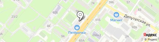 Фламинго-Сервис на карте Липецка