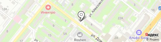 Лената на карте Липецка
