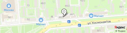 Церковная лавка на ул. Космонавтов на карте Липецка