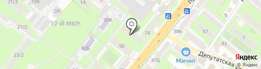 Макс на карте Липецка