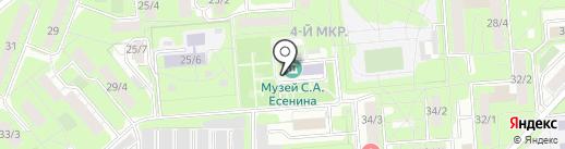 Музей им. С.А. Есенина на карте Липецка