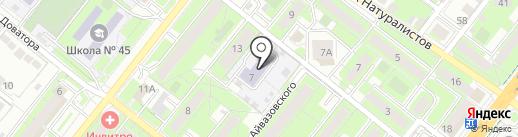 Детский сад №119 на карте Липецка