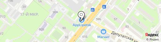 МиниСтройМаркет на карте Липецка
