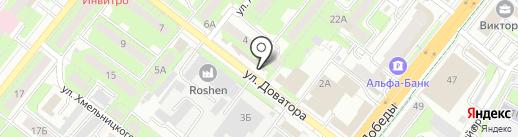 Юничел на карте Липецка