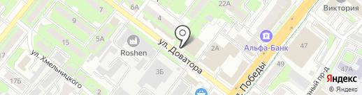 Промсвязь-инвест на карте Липецка