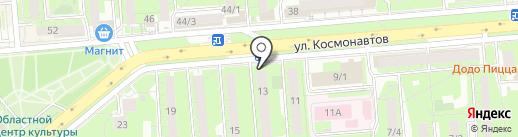 Бирюза на карте Липецка