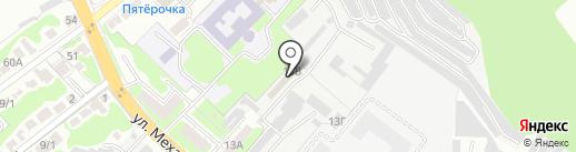 Такат на карте Липецка