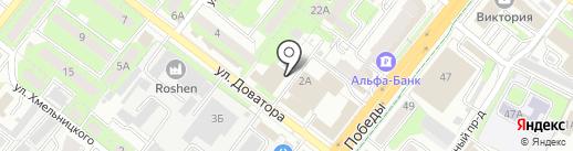 Кедр на карте Липецка