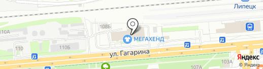 Бегемот на карте Липецка