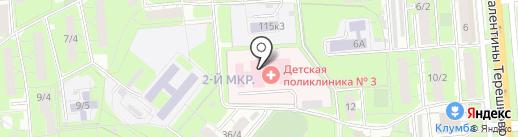 Детская городская больница №1 на карте Липецка