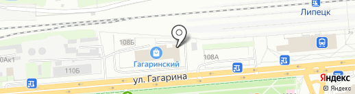 Союз строителей Липецкой области на карте Липецка