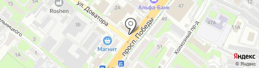 Шафран на карте Липецка