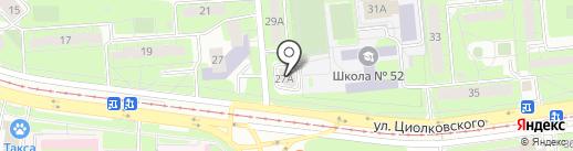 Одиссей на карте Липецка