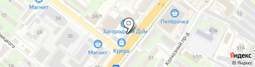 Церковная лавка на проспекте Победы на карте Липецка