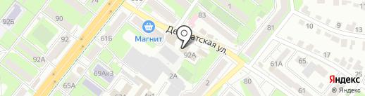 Депутатский на карте Липецка
