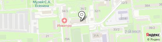 Магазин посуды на ул. Терешковой на карте Липецка