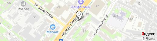 Экона на карте Липецка