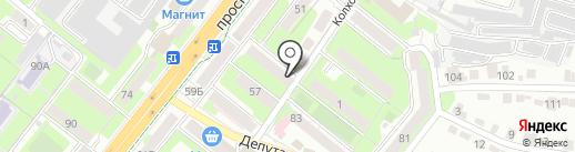 Городская поликлиника №5 на карте Липецка