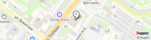 Адвокатские кабинеты Попова Г.И. и Попова Д.Г. на карте Липецка
