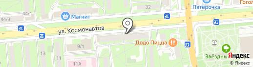 Лилис на карте Липецка