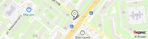 Дрова на карте Липецка