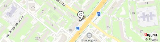 Магазин салатов на карте Липецка