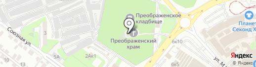 Преображенский храм на карте Липецка