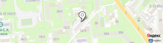 Улица Терешковой на карте Липецка