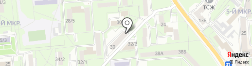 Берукт на карте Липецка