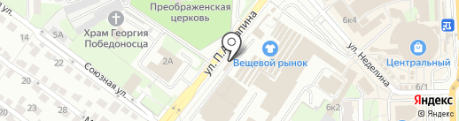 Магазин фастфудной продукции на Союзной на карте Липецка