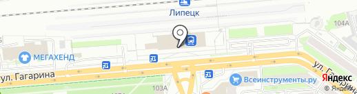 РЖД на карте Липецка