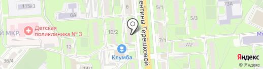 Промт на карте Липецка
